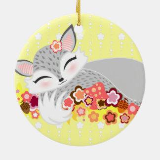Lil Foxie Cub - ornamento de encargo lindo del Adornos De Navidad