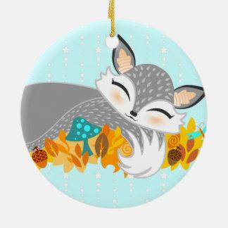 Lil Foxie Cub - ornamento de encargo lindo del Ornamento De Navidad