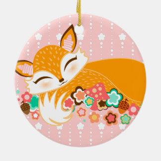 Lil Foxie Cub - ornamento de encargo lindo del rec Adorno De Reyes