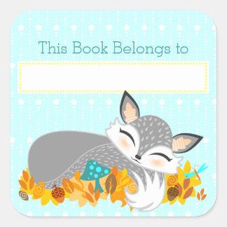 Lil Foxie Cub - pegatinas de encargo de la placa Pegatina Cuadrada