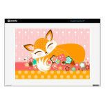Lil Foxie Cub - piel soñolienta linda del Skins Para 38,1cm Portátil