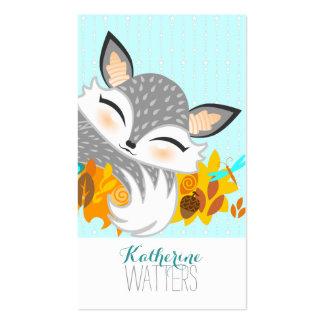 Lil Foxie Cub - vertical linda Bizcards del Fox Plantilla De Tarjeta De Negocio