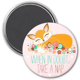 Lil Foxie Cub - When In Doubt, Take A Nap Magnet