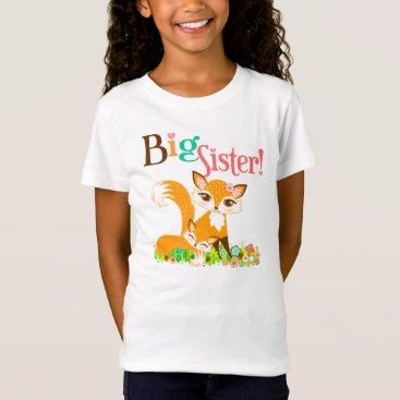 creativetaylor Lil Foxie Cubs - Cute Foxes Big Sister Tee Shirt