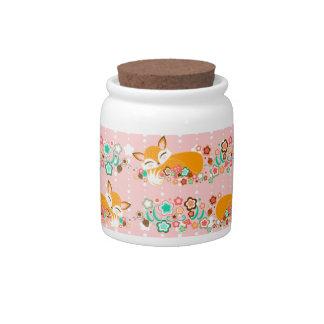 Lil Foxie Cubs - tarro del caramelo y mini bote Jarra Para Caramelo