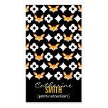 Lil Foxie - Cute Fox Pattern Vertical Bizcards Business Cards
