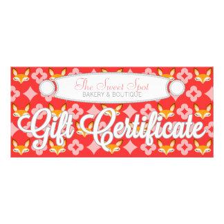 Lil Foxie - Cute Girly Fox Custom Gift Certificate