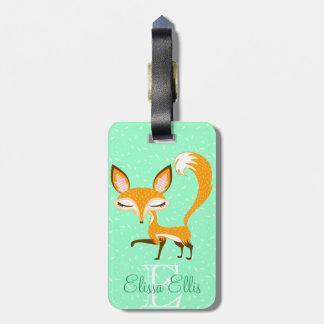 Lil Foxie - Cute Girly Fox - Custom Luggage Tag
