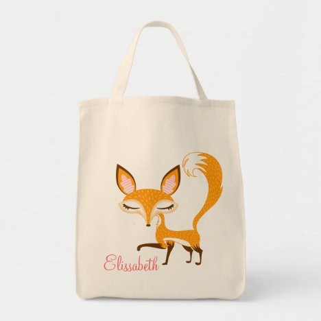 Lil Foxie - Cute Girly Fox - Custom Tote Bag