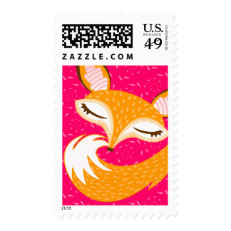 Lil Foxie - Cute Girly Fox Face & Tail Stamps