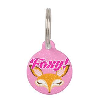 """Lil Foxie - Cute Girly Fox """"Foxy!"""" Pet Tag"""