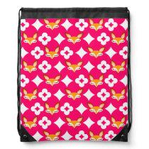 Lil Foxie - Cute Girly Fox Pattern Backpack