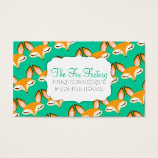 Lil Foxie - Cute Girly Fox Pattern Custom Bizcards Business Card