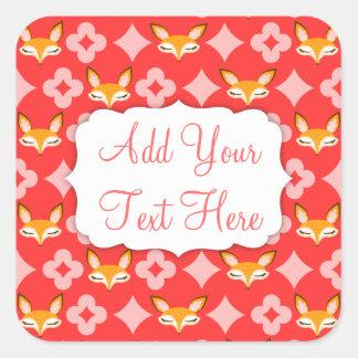 Lil Foxie - Cute Girly Fox Pattern Custom Stickers