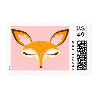 Lil Foxie - Cute Girly Fox Postage Stamps