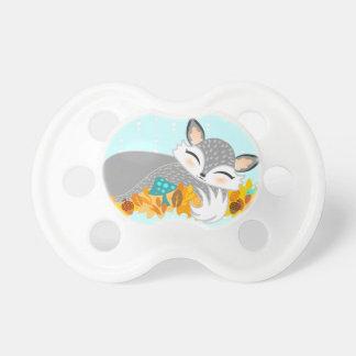 Lil Foxie de plata Cub - Fox lindo Binky del bebé Chupete De Bebe