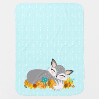 Lil Foxie de plata Cub - manta linda del bebé del Mantas De Bebé