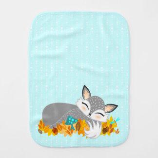 Lil Foxie de plata Cub - paño lindo del Burp del Paños Para Bebé