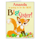 Lil Foxies Big Sister - Custom BIG Card