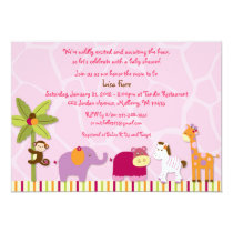 Lil Friends Jungle Animal Baby Shower Invitations
