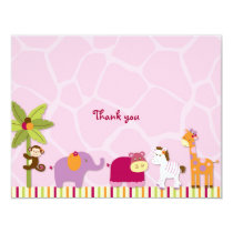 Lil Friends Jungle Animal Thank You Note Cards