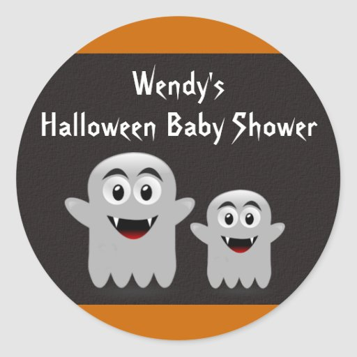 Lil Ghost Baby Shower Stickers