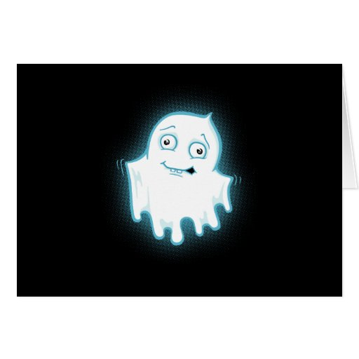 Lil' Ghost Halloween Design Greeting Card
