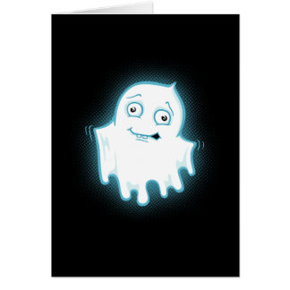 Lil' Ghost Halloween Design Greeting Card