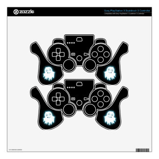 Lil' Ghost Halloween Design PS3 Controller Skin