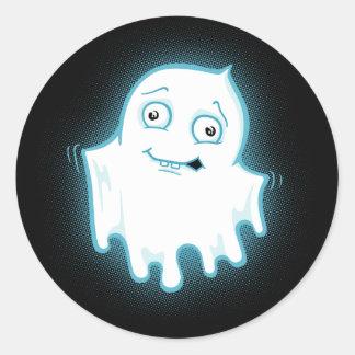 Lil' Ghost Halloween Design Round Sticker