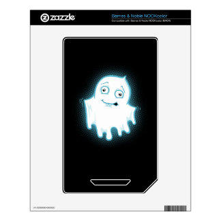 Lil' Ghost Halloween Design Decal For The NOOK Color