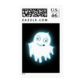 Lil' Ghost Halloween Postage Stamp
