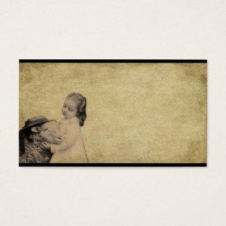 lil girl & lil lamb- prim biz cards