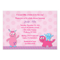 Lil Girl Monster Baby Shower Invitation