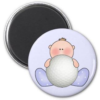 Lil Golf Baby Boy 2 Inch Round Magnet
