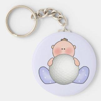 Lil Golf Baby Boy Basic Round Button Keychain