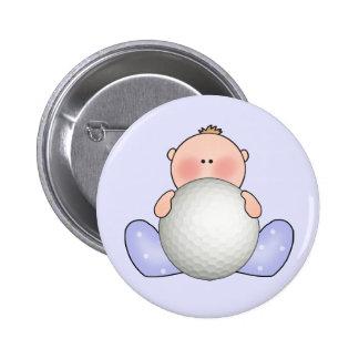 Lil Golf Baby Boy 2 Inch Round Button