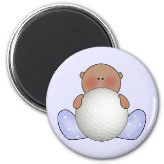 Lil Golf Baby Boy- Ethnic 2 Inch Round Magnet