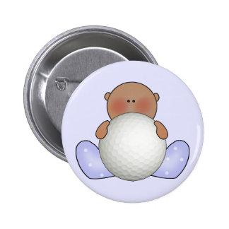 Lil Golf Baby Boy- Ethnic 2 Inch Round Button