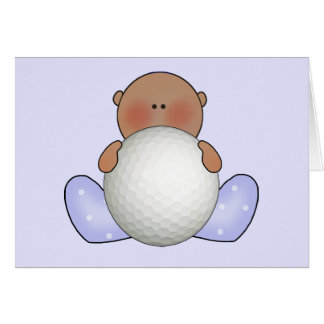 Lil Golf Baby Boy- Ethnic Stationery Note Card