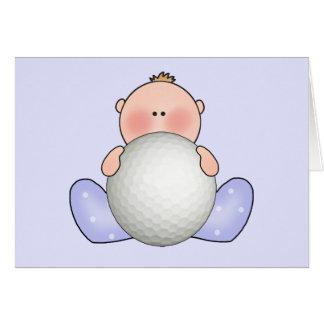 Lil Golf Baby Boy Stationery Note Card