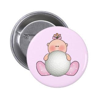 Lil Golf Baby Girl 2 Inch Round Button