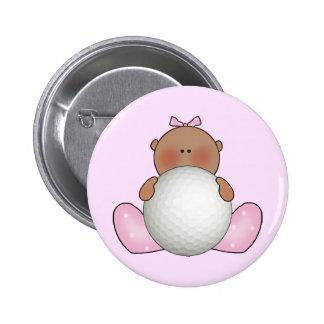 Lil Golf Baby Girl - Ethnic 2 Inch Round Button