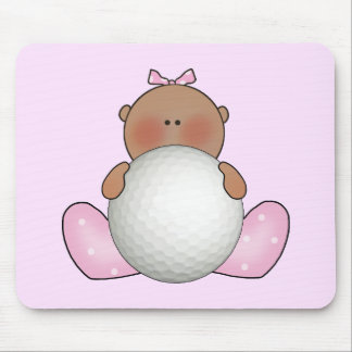 Lil Golf Baby Girl - Ethnic Mouse Pad
