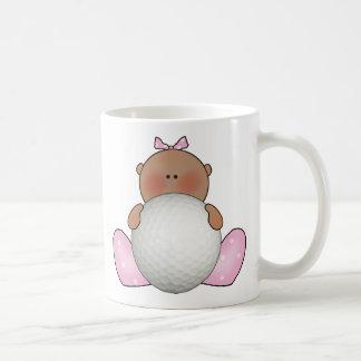 Lil Golf Baby Girl - Ethnic Classic White Coffee Mug
