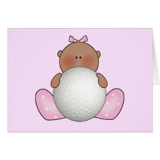 Lil Golf Baby Girl - Ethnic Stationery Note Card