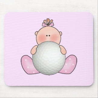 Lil Golf Baby Girl Mouse Pad