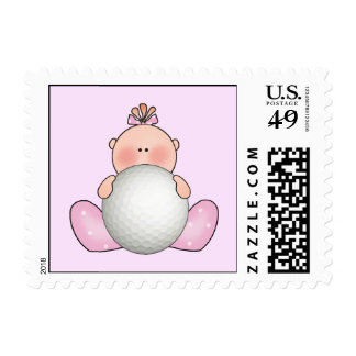 Lil Golf Baby Girl Stamps