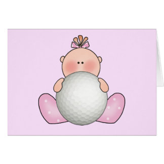 Lil Golf Baby Girl Stationery Note Card