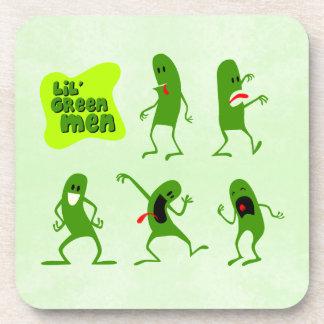 Lil' Green Men Drink Coaster